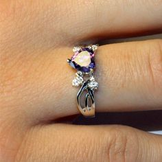 Amethyst (Purple) Heart Shaped Promise Ring  Enter to win this promise ring!  Enter at:  http://www.vivaveltoro.com/2014/04/beautiful-promise-rings-giveaway-win-ring-choice.html