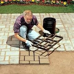 DIY Paving Molds Use heavy-duty plastic mold that turns a little pre-mixed concrete into a concrete garden stepping stones for easiest access way to your garden. Backyard Patio Designs, Backyard Projects, Outdoor Projects, Garden Projects, Backyard Landscaping, Backyard Ideas, Patio Ideas, Landscaping Ideas, Garden Ideas