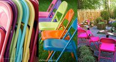 5 steps to reform foldable chairs spending less / 5 passos para reformar cadeiras de ferro gastando muito pouco