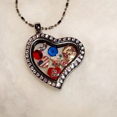 Firefighter charms locket