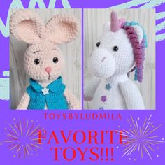 This crocheted rabbit will be a great gift, decor for a children's bedroom or your favorite toy for your baby. The plush bunny is very soft and will be the perfect toy for sleeping This soft bunny dol Crochet Bunny, Crochet Toys, Free Crochet, Toy Monkey, Funny Toys, Birthday Gifts, Baby Birthday, Bunny Plush, Daughter Birthday
