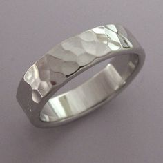 Hammered Palladium Wedding Ring with Polished or by esdesigns, $186.00