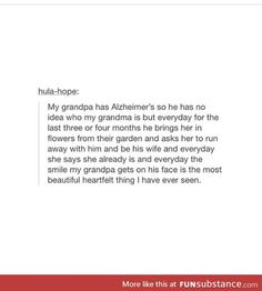 nice because other than that alzheimers is a terrible and destructive disease My Tumblr, Tumblr Funny, Make Me Happy, Make Me Smile, Gives Me Hope, Faith In Humanity Restored, Cute Stories, Funny Cute, Hilarious
