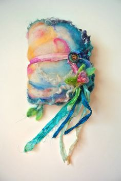 custom listing for joann - rustic sparkling handmade book felted wool journal diary