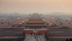 Forbidden City, Beijing, China....view from top of Jingshan Park.....not my photo but have been there in pre-digital days.