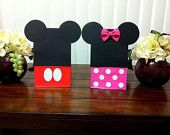 10ct mickey mouse and minnie mouse party bags Treat Bags goody bags loot bags RED MINNIE mouse PINK minnie mouse available