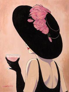 Lorraine Dell Woo ~ Flirty Hat   Tutt'Art@   Pittura * Scultura * Poesia * Musica  