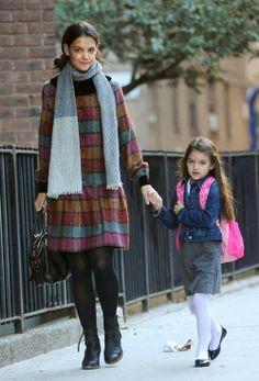 Suri Cruise, junto a Katie Holmes, afronta su nueva vida escolar #people #celebrities #actrices #actress #famosas