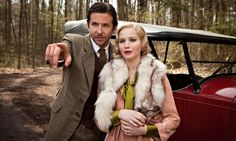 Lawrence's most ambitious performance so far … Bradley Cooper and Jennifer Lawrence in 'Serena'