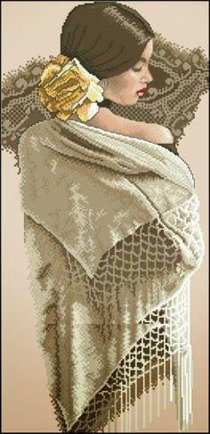 lady with a shawl 1