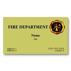 20 Best Fire Department Business Cards Images Firemen Fire