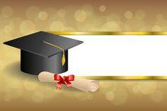 Resumen de fondo de color beige educación graduación del diploma del casquillo lazo rojo Fotos ilustración franjas de oro marco stock