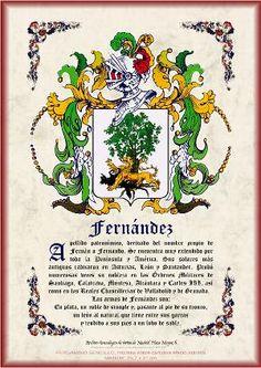 Escudo Heráldico impreso en cartulina imitación pergamino
