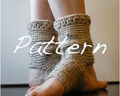 PATTERN:  Short Warmers, Easy Crochet Dance, Ballet, Leg Warmers, yoga socks, teen adult, ankle, candy striped, Permission to Sell. $4.99, via Etsy. - She can also make to order!