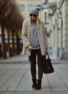 Grey & beige