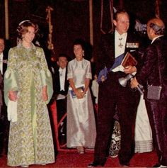 House of Windsor:  October 1971-Prince Philip and Princess Anne at the 2500 year Celebrations of the Persian Empire, a lavish event hosted by the Shah of Iran. Due to security concerns, Queen Elizabeth did not attend.