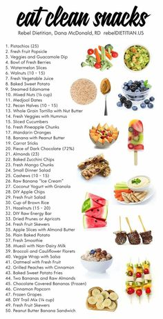 Healthy real food snacks.