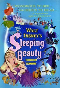 1959 Sleeping Beauty Poster 543x800 Les affiches des 53  films Disney de 1937 à 2013  design cinema 2 art