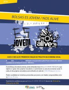 Bolsas ES Jovem / NOS Alive: Candidaturas Abertas | Impulso Positivo