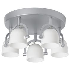 IKEA - SVIRVEL, Ceiling spotlight with 5 spots, , You can easily direct the light to different places since each spotlight can be adjusted individually.