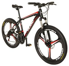 Vilano 26 Mountain Bike Ridge 20 MTB 21 Speed Shimano with Disc Brakes ** See this great product. Mountain Biking, Mountain Bikes For Sale, Best Mountain Bikes, Mountain Bike Shoes, Mountain Bicycle, Bmx Bikes, Cool Bikes, Schwinn Bikes, Full Suspension Mountain Bike