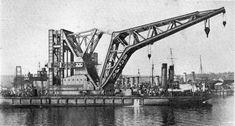 Meccano model page 32 1934 Super Model Leaflet Floating Pontoon Crane