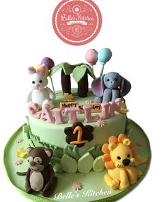 Animals In The Jungle Cake By Belle's Kitchen, To Order Contact Our WA: 081294055786, Line: Bellekitchen, Also Be Sure To Follow Our Instagram @belle_kitchen