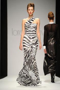 Zebra print gown - Lorenzo Riva.