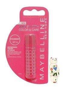 NEW❤ MAYBELLINE LIP SMOOTH COLOR & CARE SPF16 REFRESHING TINTED LIP STRAWBERRY Starting bid today :US $0.30