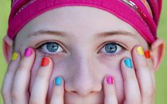 face eyes girl nails  'Vibrant Colours' |