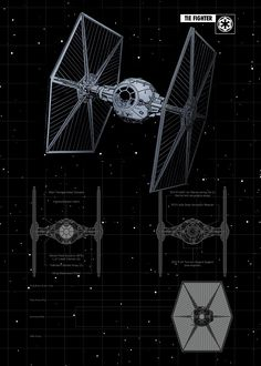 Tie Fighter by Star Wars Tie Fighter, Star Wars Poster, Star Wars Ships, Star Wars Art, Stargate, Film Science Fiction, Nave Star Wars, Star Wars Personajes, Star Wars Spaceships