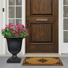 Tierra Verde Crescendo 19 in. W x 23 in. H Round Slate Rubber Self-Watering Urn X 23, Floors And More, Plant Health, Flower Pots, Flowers, Recycled Rubber, Self Watering, Water Plants, Outdoor Plants