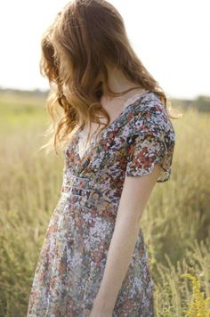 DIY Wildflower Print Dress - Check out this 17 year old designer! Amazing!!  | Kollabora