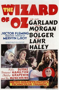 """Photo: Wizard of Oz movie poster, 1939. Credit: MGM; Wikimedia Commons. Read more on the GenealogyBank blog: """"'The Wizard of Oz' Premieres."""" https://blog.genealogybank.com/the-wizard-of-oz-premieres.html"""