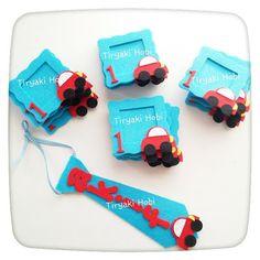 ♥ Tiryaki Hobi ♥: Keçe çerçeve magnet ve kravat (AKİF)