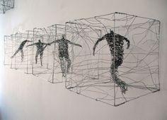 Urbanised wire sculptures Barbara Licha                                                                                                                                                      More