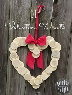 Wood Slice Heart Wreath