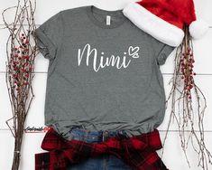 Pregnancy Reveal for Gigi Gigi Christmas Gift Women/'s Holiday Christmas Raglan Shirt with Buffalo Plaid Print and Santa Gigi