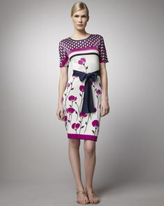 Melba Poppy-Print Dress by Tory Burch at Bergdorf Goodman. CUTE!!!!!