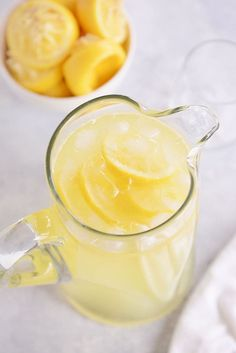 Delicious, simple homemade lemonade that doesn't require cooking a simple syrup!