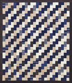 Color Option made by quilt tester Jan Ragaller for Candy Cane quilt by designers Jo Kramer and Kelli Hanken Quilts and More Winter 2016 | AllPeopleQuilt.com