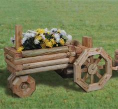 Planter Plans | 29-W1260PL - Landscape Timber Tractor Planter Woodworking Plan