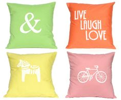 Cute cushion range from Linnea Swedish Designs