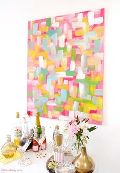 Easy DIY Wall Art Painted Canvas