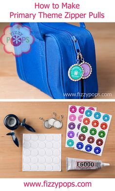 How to make zipper pulls with the 2014 LDS Primary Theme: a tutorial from FizzyPops.com