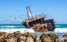 Southern Shipwreck - Cape Agulhas, South Africa by Jim Boud