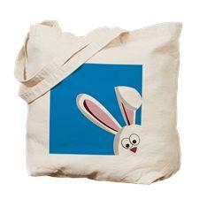 Peeking Bunny Tote Bag