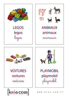 Etiquettes de boites à jouets (méthode Montessori) à télécharger gratuitement… Montessori Education, Montessori Activities, Kids Education, Activities For Kids, Legos, Class Displays, Maria Montessori, Toy Boxes, Classroom Management