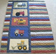 Little Boy Quilt Fabric Baby Boy Quilt Sets Piece N Quilt Randomness Piece N Quilt Use Paper Pieced Heavy Machinery Blocks For My Next Baby Boy Quilt Simple Idea For Caleb Baby Boy Quilt Kits To Make