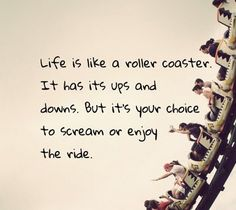 Life is like a roller coaster...